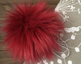 Cherry on Top Faux Fur Pom