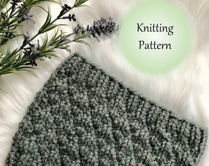 Featured listing image: The ALMA Cowl - KNIT PATTERN