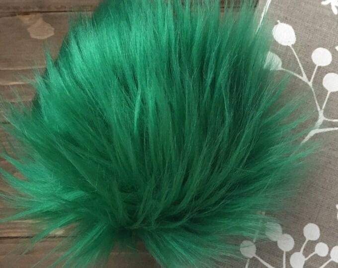 Emerald Faux Fur Pom