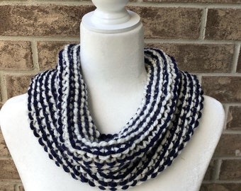The SEAFORTH Cowl - Navy/Ivory