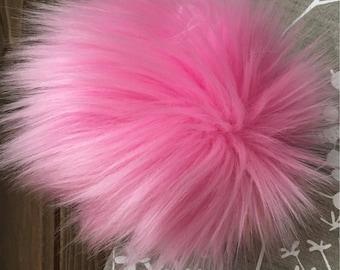 Bubblegum Faux Fur Pom