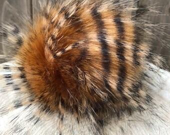 Tiger Stripe Faux Fur Pom - LIMITED EDITION