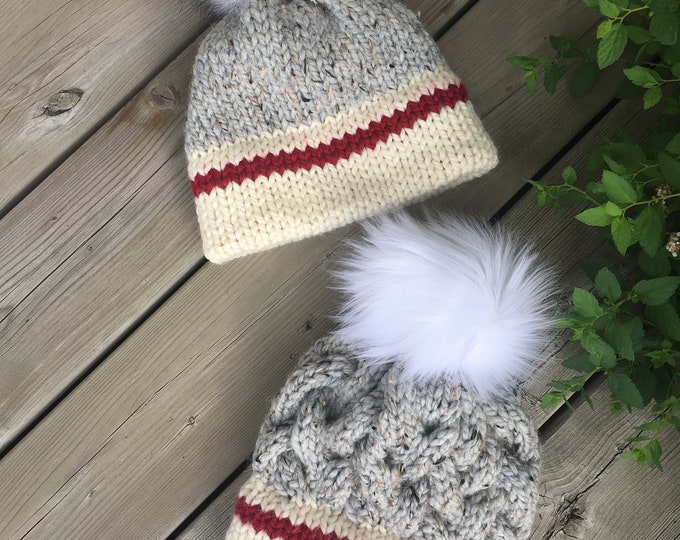 CHUNKY MONKEY Sock Monkey Hat - Light Grey