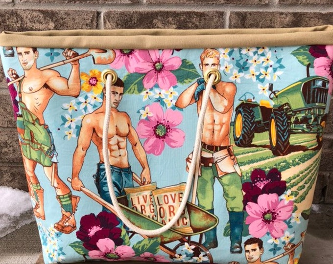 The WEEKENDER Bag | Beach Tote Pin Up Guys Canvas