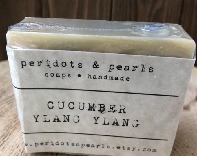 Cucumber Ylang Ylang Vegan Handmade Bar Soap