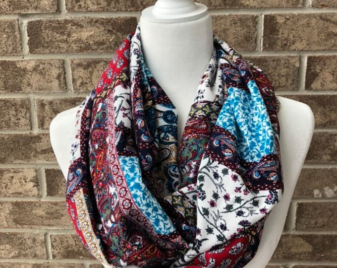 Multi Colour/Pattern Infinity Scarf