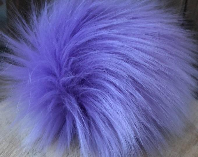 Lavender Faux Fur Pom