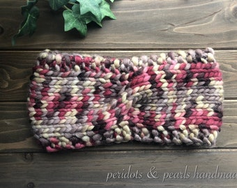 The OONA Twisted Headband - Raspberry/Brown/Tan