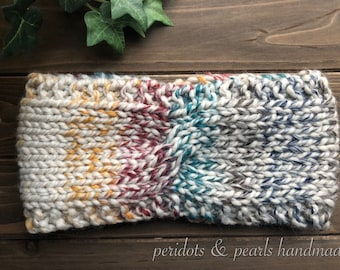 The OONA Twisted Headband - Ivory/Red/Yellow/Blue/Green/Black