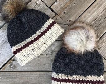 CHUNKY MONKEY Sock Monkey Hat - Dark Grey