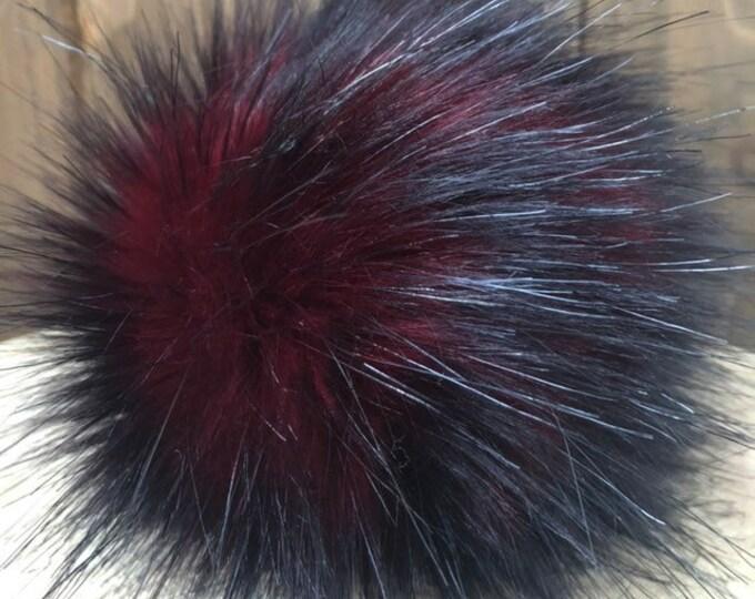 Cherry Cola Faux Fur Pom