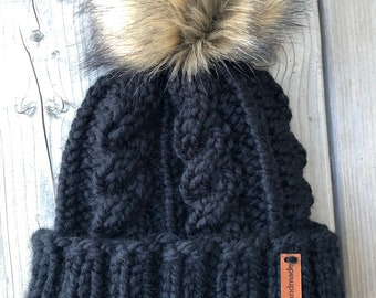 ADRIANDER Cabled Toque (Adult Size) * CUSTOMIZE IT*