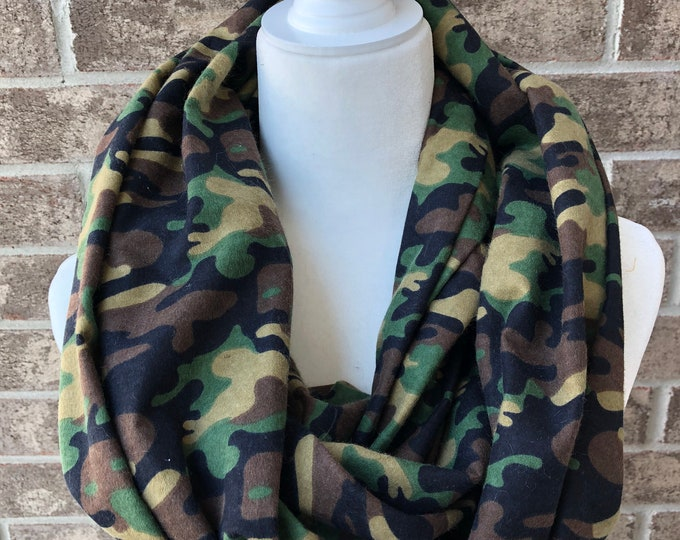 Camouflage Flannel Infinity Scarf