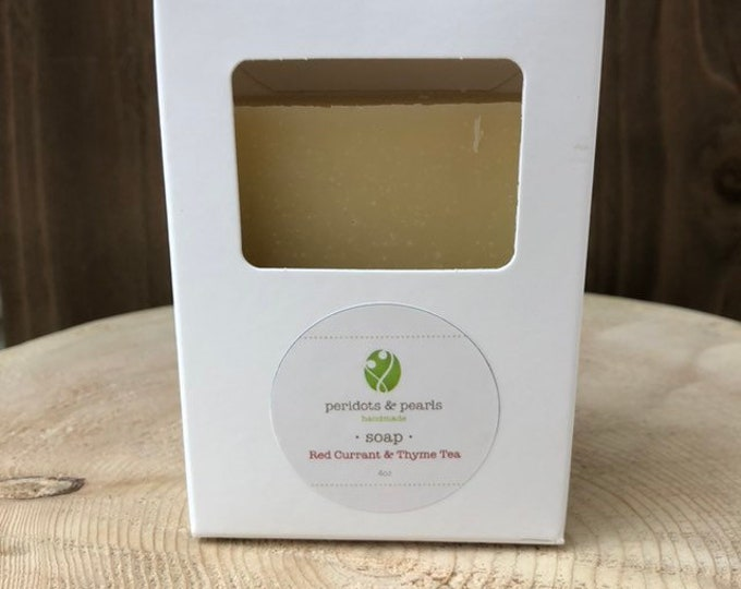 Red Currant  & Thyme Tea Vegan Handmade Bar Soap