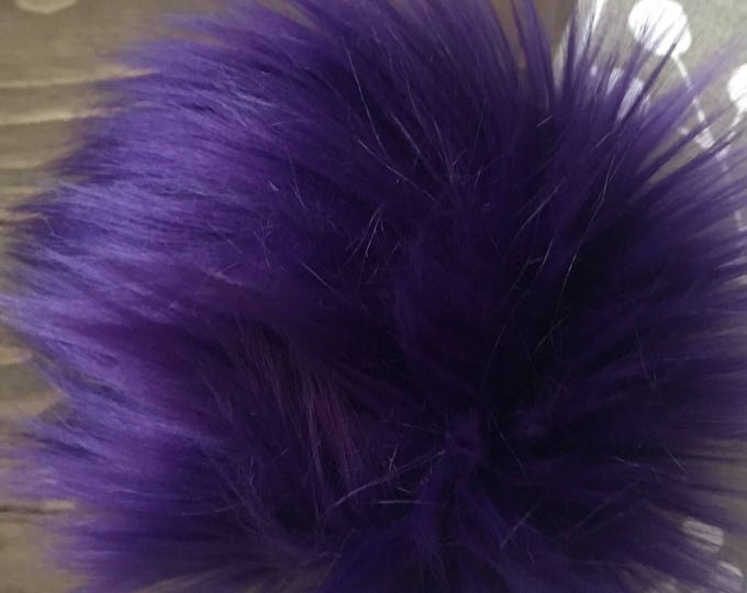 Royal Purple Faux Fur Pom
