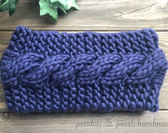 The WHITNEY Cabled Headband - Purple