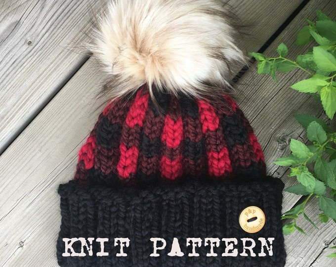The CANOQUE (Canuck Toque) (KNIT PATTERN)