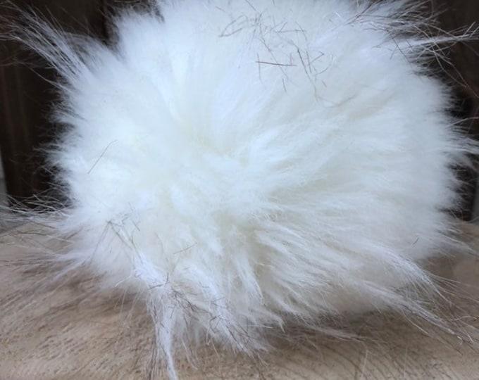 Polar Bear Faux Fur Pom