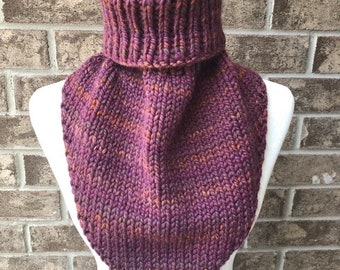 The MARIELLE Handkerchief Cowl - Purple/Orange