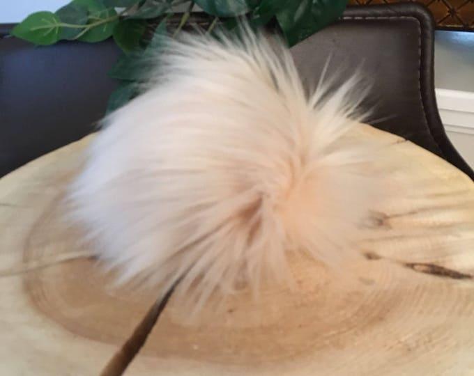 Marzipan Faux Fur Pom