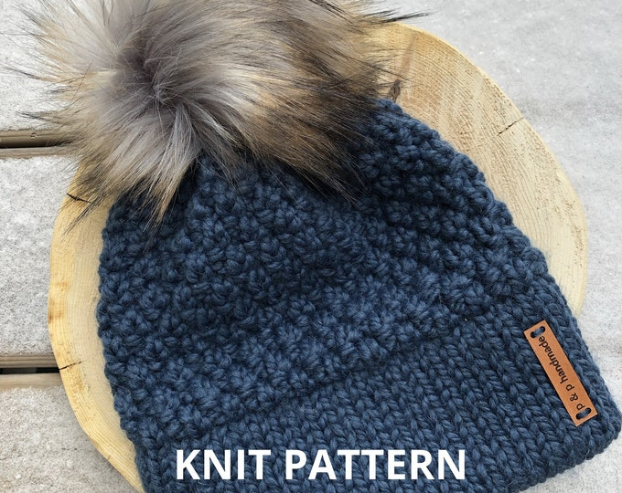 Featured listing image: The HAILSTONE Beanie - KNIT PATTERN