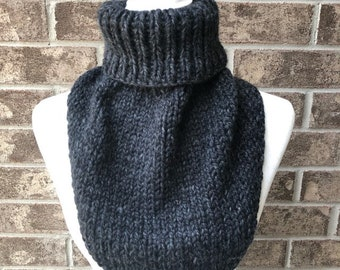 The MARIELLE Handkerchief Cowl - Charcoal Grey