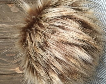 Golden Kodiak Faux Fur Pom