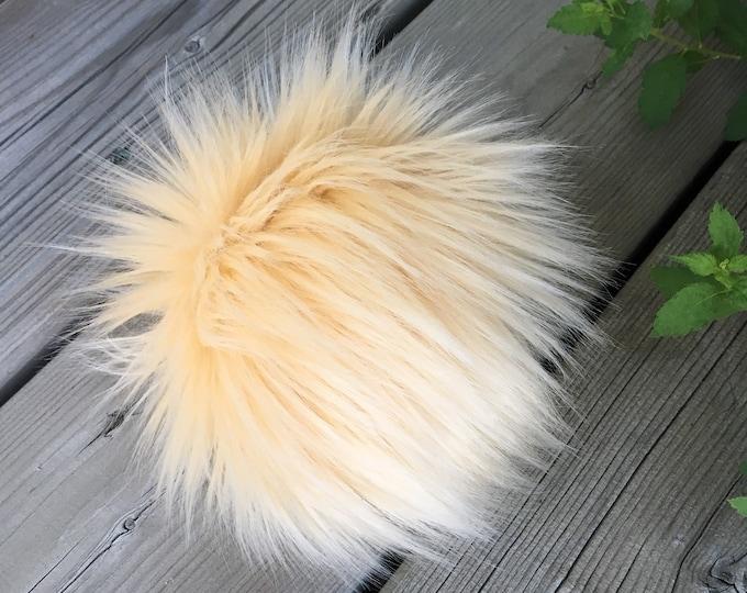 French Vanilla Faux Fur Pom