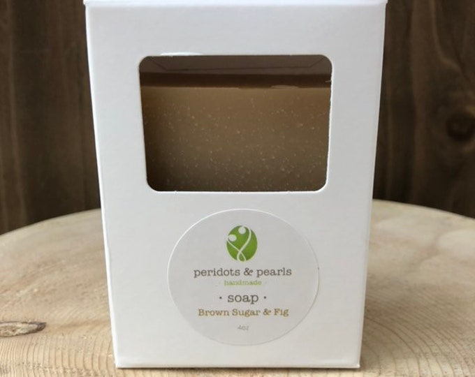 Brown Sugar & Fig Vegan Handmade Bar Soap