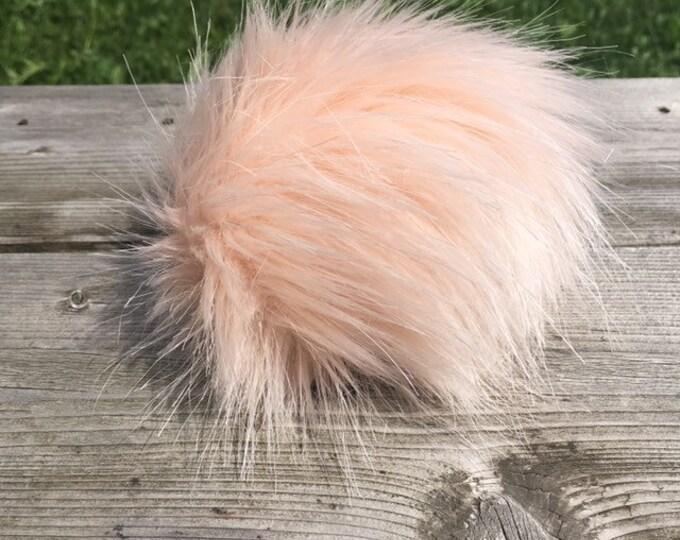 Blush Faux Fur Pom