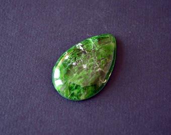 Chrome diopside natural stone cabochon   41 х 26 х 6 mm