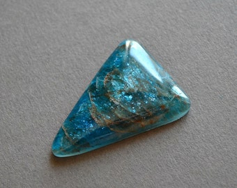 Blue Apatite natural stone cabochon  39 х 28 х 5 mm