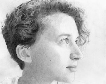 Pencil portrait commission custom drawing