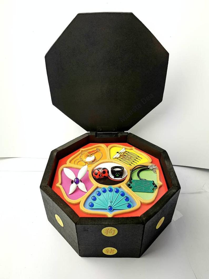 New Miraculous Ladybug Wooden Master Fu Box Chest Miracle