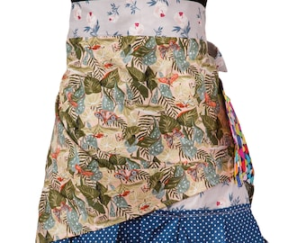 Absolutely Wild ZERO WASTE Hostess Apron - Funky, frilly, mother's day, birthday, housewarming, cosplay, fun - one size fits most