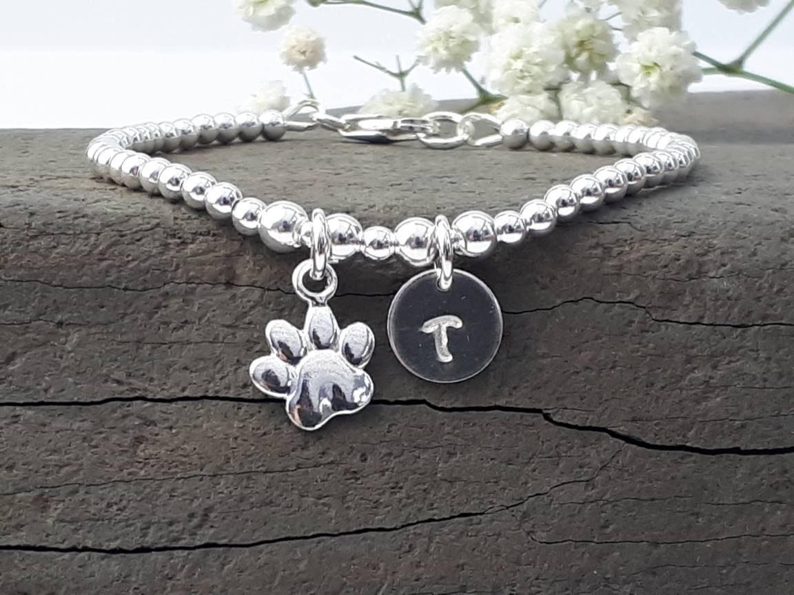 Dog Lover Gift Sterling Silver Handmade Silver Dog Collar Link Bracelet