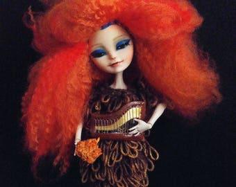 Art doll , Ooak Björk Biophilia Doll by MerviaArt
