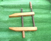 Primitive Large Carpenter Clamp, Men 39 s Collectible Tool, Old Wood Vice Clamp, Vintage Tool, Wall Decor