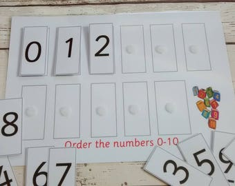 Number recognition | Etsy