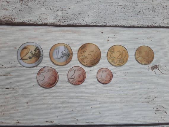 Euro Spiel Münzen Spielgeld Kinder Spielmünzen Lernen Wert Etsy