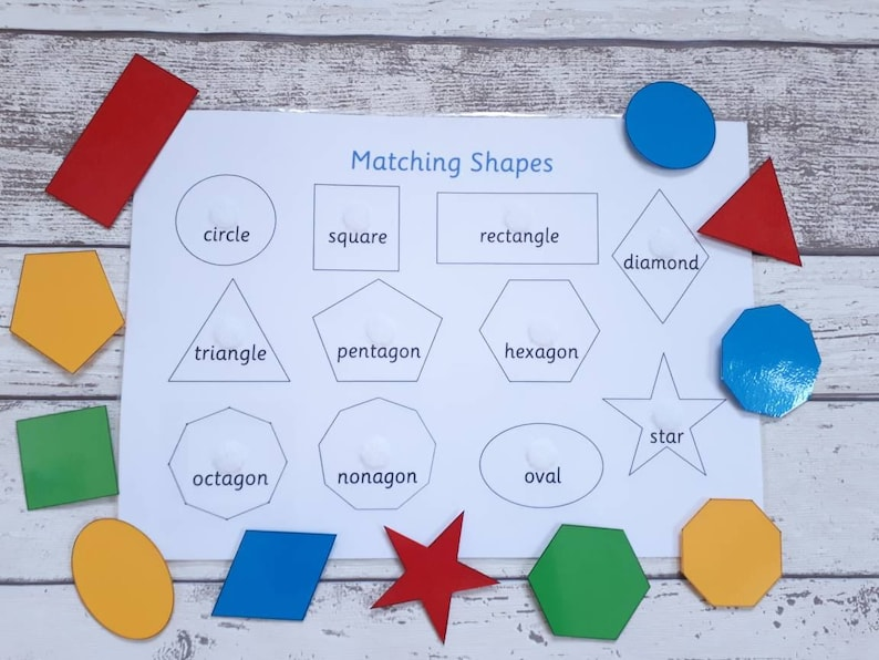 Shape matching teaching resource interactive learning game Shape -names