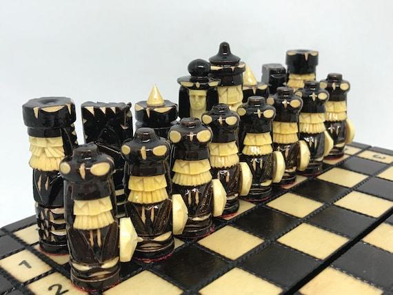 Wooden Chess Set 7.8 Board Handmade Souvenir Chess | Etsy