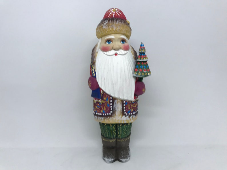 """Ded Moroz 12/"""" Father Frost Collectible Doll Russian Santa Claus Figurine"""