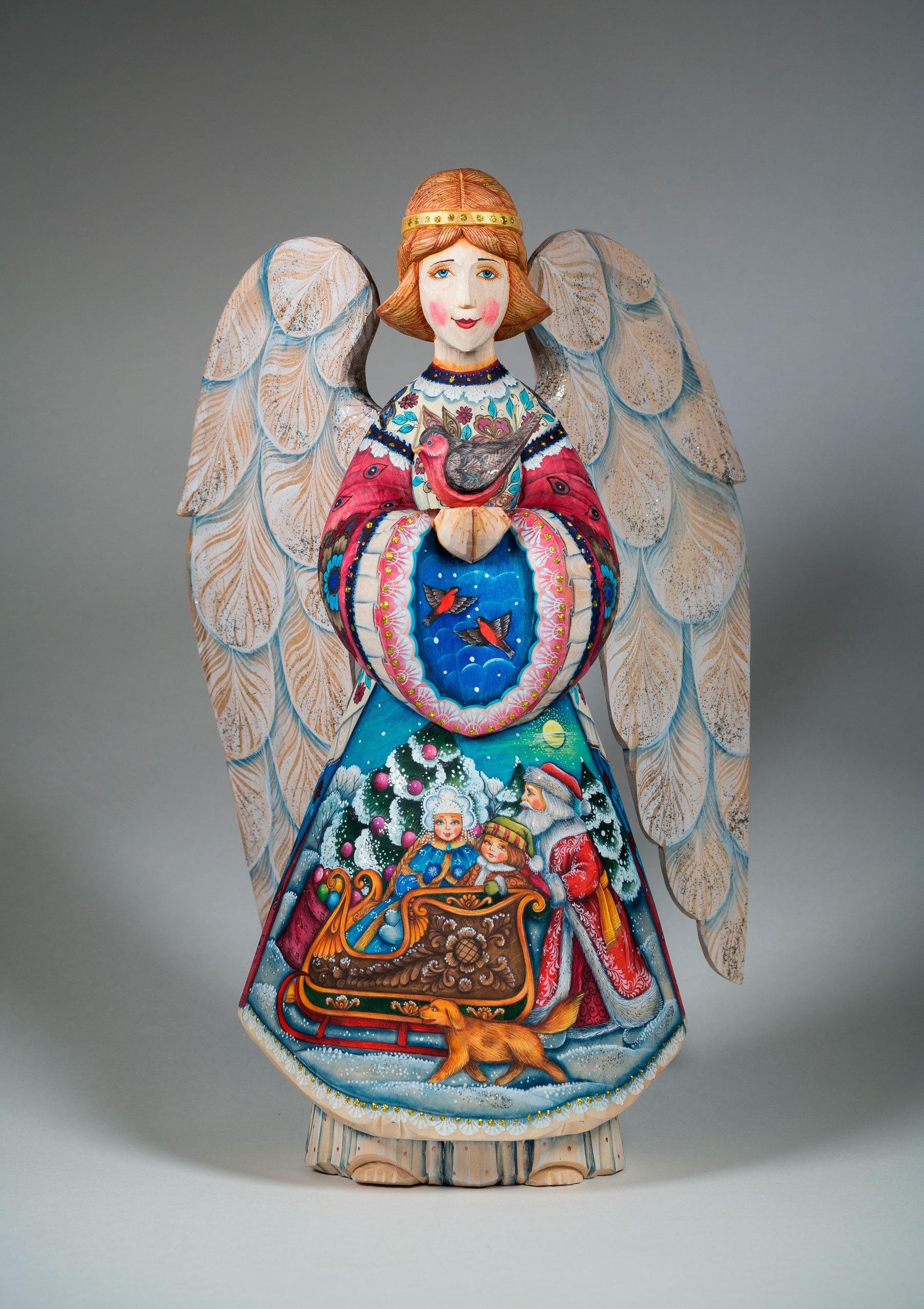 Angel Figurine Hand-painted