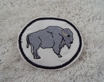 American BUFFALO Bison Embroidered Iron-on Patch