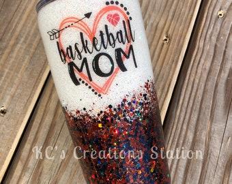 Baseball mom glitter tumbler funny birthday gift funny glitter tumbler glitter tumbler Christmas gift sports m stainless steel tumbler