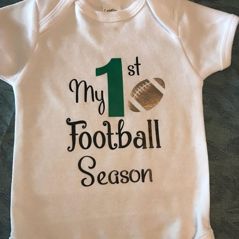 3ee0632b1 1st football season onesie football onesie baby onesie | Etsy