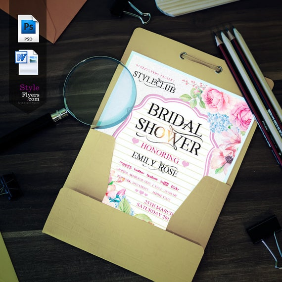 professional wedding flyer template for word photoshop etsy