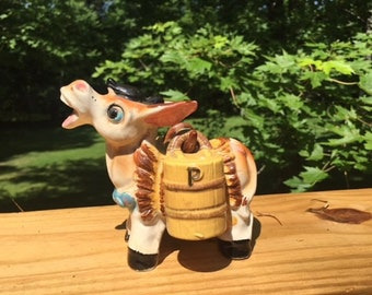 Adorable Donkey/Burro Pack Salt and Pepper Shakers