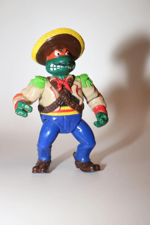 TMNT tortue Figure 1990 Teenage Mutant Ninja Turtles Vintage Figure des années 90 Mirage Studios d'égout jouet April O'Neil